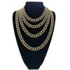 18inch 20inch 24inch 30 inch Hip Hop Iced out Cuban Chain Cuban Link Chain Necklace Bling bling Jewelry N409