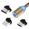 Cell Phone Cables 3 in 1 Magnetic Charger Type C Micro USB Cables Data Line Charging for iPhone Samsung Android Devices