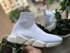 Zapato de calcetín todo blanco