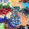 Wholesale 100pcs Colorful Butterfly Crystal Bead 11x14mm Glass Beads Loose Spacer Beads DIY Jewelry Making Austria Crystal Beads