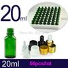 20ML 56pcs Cosmetic Green Empty Reagent Pipette Bottle, Professional Essential Oil Refillable Package, Dropper Fragrance Bottle