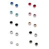 Titanium Stainless Steel Magnet Crystal Stud Earrings No Hole Ear Clip Healthly Power Fashion Jewelry for Men Women Drop Shipping