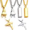 Plug Gold Bar SUP LOGO Charm Statement Necklaces & Pendants Hip Hop Jewelry Long Chains 18K Gold Plated Mens Necklaces