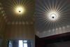 LED Wall Light Indoor Concealed Mounted Colorful Lights for Living Room Hall Aisle Corridor Entrance Bar KTV Sun Flower Decoration Downlight