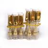 10pcs .5ml 1ml 510 thread Glass ceramic coil TH205 TH210 vape cartridge with Gold ceramic tip For thick CO2 viscous oil