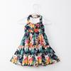 2018 Summer Baby Girls Dresses Floral Printed Sundress for Girls Beach Holiday Children Dress Kids Clothes Hot Sales