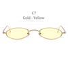 C7 Altın Kare Sarı Lens
