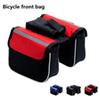 Three-in-one bicycle bag mountain bike saddle girder bag with front tube bag bicycle riding equipment accessories T4H0010