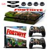 Fortnite battle royal Sticker Vinyl Decal For Dualshock4 PS4 Console and Controllers Protector Skin & Light Bar Stickers&Silicone Caps