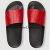 2018 mens and womens fashion logo siganation leather slide Sandals with rubber sole boys girls causal beach slippers