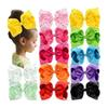 "Big Larger 8"" Grosgrain Ribbon Sparkly Hair Bows Full Colorful Glitter Rhinestones Bows for Girls Infants Toddlers Teens Kids Children"