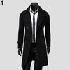 Men Winter Stylish Slim Double Breasted Trench Coat Long Jacket Outwear Overcoat