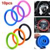 10pcs lot Soft Silicone Steering Wheel Cover Shell Skidproof Eco Friendly for Mercedes Audi Nissan Peugeot Mazda CIA_100