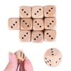 16mm Wood Dice Multi Colored Round Corner Wooded Dices Playing Family Games Party Toy Decorative Dice Gift 6 Sided Dice SC124