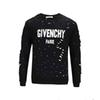 HUY latest design summer street wear European Paris fans fashion men's high quality hole cotton T-shirt casual sweater women's T-shirt giv t