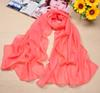 Women's Chiffon Silk Scarfs Solid Fashion Shawl Sunscreen Wild Wrap Beach Neckerchief Cheap Long Sciarpe Scarves