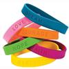 Personalized Silicone Wristbands Bracelets Sports Party Events Activities Inspirational Sayings Bracelets Promotional Gifts Band