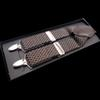 European and American fashion 4 clip jacquard men's suspenders FY18102804