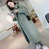 New Thicken Wool Coat Women Long Sleeve Turn-down Collar Outwear Jacket Casual Autumn Winter Elegant Long Coat Plus Size