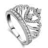 Lovers Crown Ring 3a Zircon Cz 925 Sterling Silver Filled Engagement Wedding Band Ring For Women Men