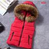 ZOGAA 2018 Winter New Brand Women's Hooded Coat Cotton-Padded Vest Fur Collar Hooded Winter Coat For Woman Outerwear Vest