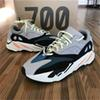 desiner sneaker Kanye West Wave Runner 700 Seankers Sports Running Shoes Men Women Solid Grey Chalk White Core Black Sport Shoes Size 36-45
