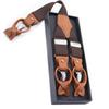 Suspenders men New High Quality Leather Dual Suspenders Men's Casual Fashion Braces
