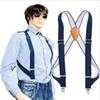 JIERKU Suspenders Man's Braces Genuine Leather Suspenders Outdoor Work Suspensorio Trousers Strap Father Husband's Gift YT002