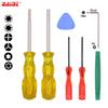 7 in 1 Game Tool with 2.5Y Tri Wing 3.8 4.5 mm Security Screwdriver for Switch Tools Kit 20set lot