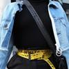 17SS C O Belt Yellow Black Letters BELT Metal Button Unisex Hip Hop Swag Brand Men Women Woven Belt HFLSYD001