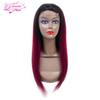 Brazilian Human Hair 1B 99J Ombre Straight 9A Wigs 4x4 Swiss Lace Front Free Part Human Hair For Women