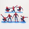 7pcs  Lot Spider Man Action Figure Spiderman Model Toys Children Birthday Gift Collection Toy 6 -11cm