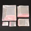 Storage Bags Clear Self Adhesive Seal Plastic Packaging Bag Resealable Cellophane OPP Poly Bags Gift Bags