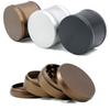 Tobacco Aluminum Alloy Crusher Herb Grinders Matte Grinder Creative Design Sector Shape Teeth Ginders With 65mm 4 Layer