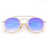 f44384eaf2b Rlei Di 2018 New Round Mirror Sunglasses for Women Fashion Design Sunglasses  Mend Face Round Star Style Sunglasses 80s90s UV400 Gafas de sol