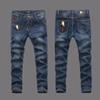 European American Style 2017 famous brand mens jeans luxury men denim trousers Slim Straight blue jeans pants Size 28-40