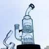 Thick Glass Bong 12 Arms Tree Perc Oil Rigs Double Tree Percolator Dab Rig 14mm Female Male Joint Water Pipes YQ01