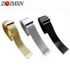 ZLIMSN Milanese Watch Bracelet 18mm 20mm 22mm 24mm Ultrathin Stainless Steel Universal Metal Strap Black Rose Gold Silver