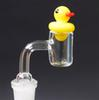 Flat Top XL Quartz Banger Nail + Duck Carb Cap 4mm Thick With 20mm OD Female Male 10mm 14mm 18mm 90° Quartz Nails