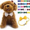 Adjustable Pet Dog Bows Tie Neck Accessory Necklace Collar Puppy Bright Color Pet Bows Dog Apparel Mix Color mk582