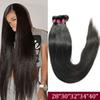 Brazilian Virgin Straight Human Hair Weave Bundles Unprocessed Remy Human Hair Extensions Raw Virgin Indian Hair 28 30 32 34 40 Inch
