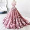 Princess 2019 Prom Dresses Long Off The Shoulder Appliques Long Lace Evening Gowns Quinceanera Vestidos Custom Made Bridal Guest Dress