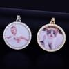 Custom Made Photo Medallions Necklace & Pendant With Rope Chain Gold Silver Color Cubic Zircon Men's Hip hop Jewelry