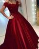 Off Shoulder Appliques Beaded Satin Navy Blue Formal Prom Dresses 2019 Long Ball Gown Quinceanera Dresses Sweet 16 Dress