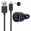 Dual USB Car Charger 2 Port mini Chargers   Sync Cable Lightning Micro USB Type C For IPhone 6 7 Plus X Samsung S7 S8 NOTE 8 HTC LG