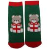 WO 1 Pair Bear Paern Child Christmas Socks