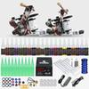 Lowest Price Beginner Tattoo Kit 2 Guns 20 inks power supply Free Shipping to USA D175GD-15