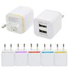 Home travel dual port Wall Charger dual usb port Power Adapter metal Mushroom US Plug Charging general For iPhone Samsugn LG htc