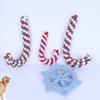 Pet Dog Braided Chew Bite Play Toys Cotton Animal Puppy Cat Dog Bite Training Teeth Christmas Cane Crutch Toys Xmas Gifts HH7-1424