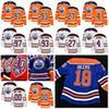 Edmonton Oilers Connor McDavid Milan Lucic 93 Ryan Nugent-Hopkins Kris  Russell 18 Oilers Heritage Uniform Hockey Jerseys 40th (1979-2019) e42de5857